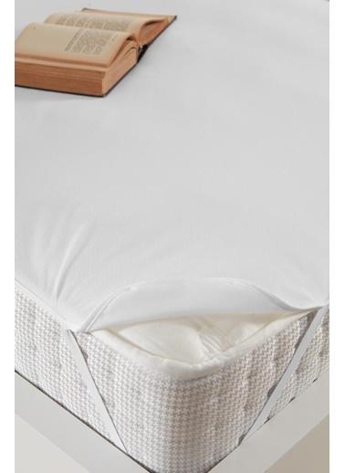 Decovilla  160x200 Micro Köşe Lastikli Sıvı Geçirmez Yatak Koruyucu Alez Beyaz